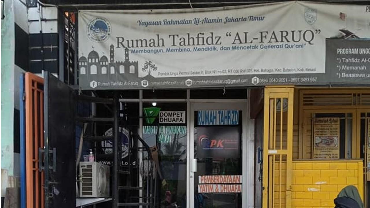 Rumah Tahfidz al Faruq Bekasi.
